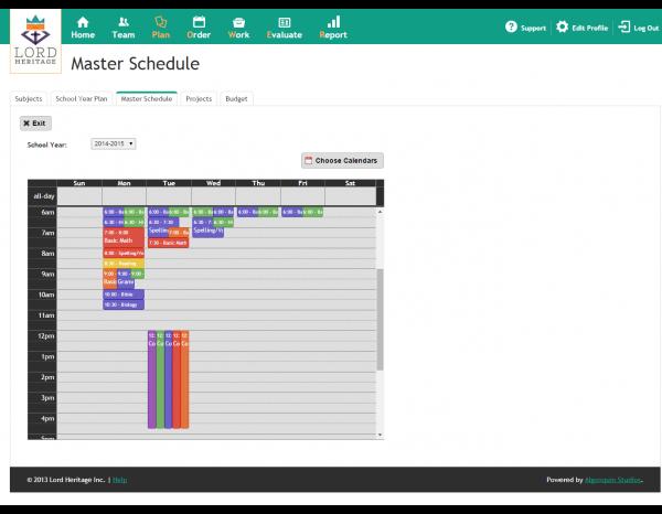bales - HomeSchool Office - Master Schedule